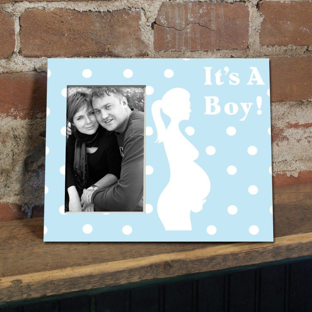 It's a Boy Pregnant Mother Decorative Picture Frame - Holds 4x6 Photo