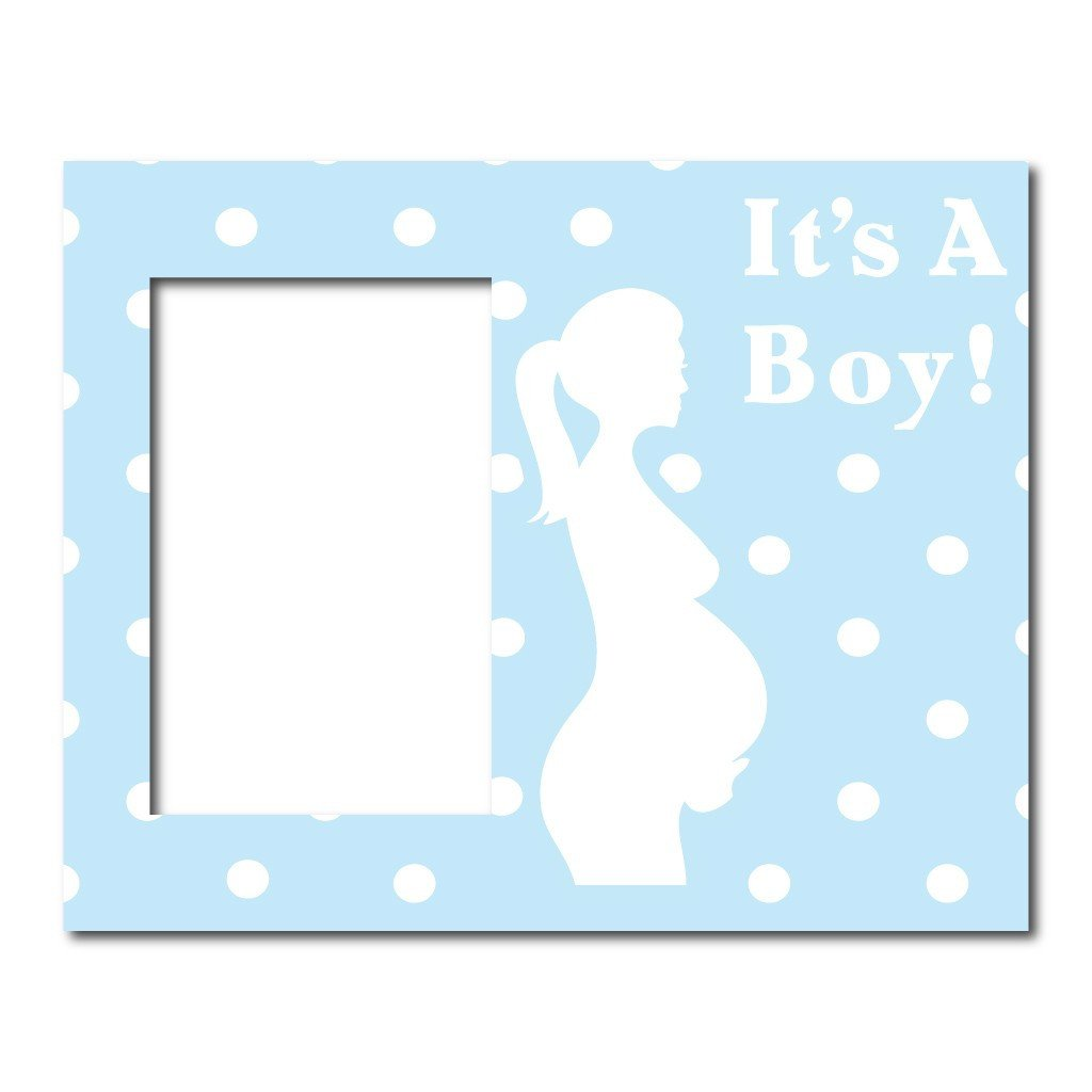 Its A Boy Pregnant Mother Decorative Picture Frame Holds 4x6 Photo