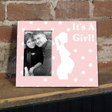 It's a Girl Pregnant Mother Decorative Picture Frame - Holds 4x6 Photo