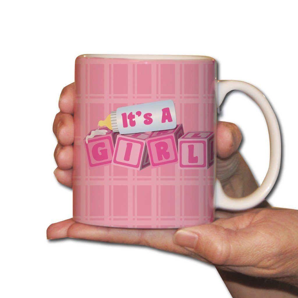 It's a Girl! baby blocks - New Baby Gift - Coffee Mug