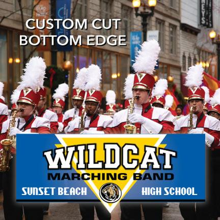 Marching Band Banner with Custom Design and Shape