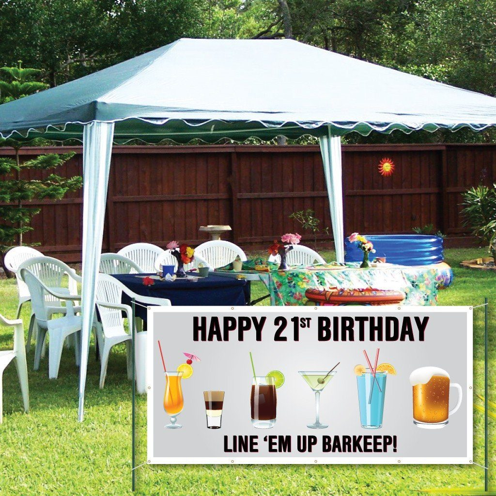 Happy 21st Birthday 2'x4' Vinyl Banner