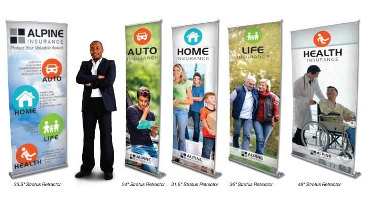 Stratus Banner Retractor Banner Stands