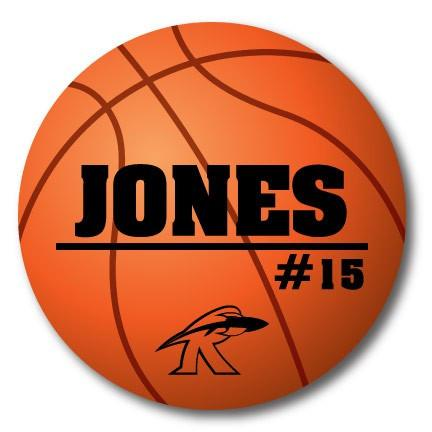 "Custom 22"" Basketball Player Name, Number and Mascot Fence & Yard Signs"