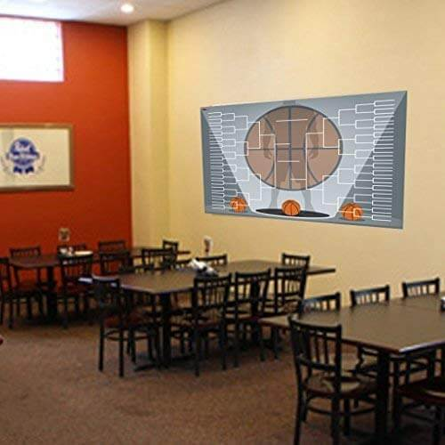 basketball bracket on cafe wall