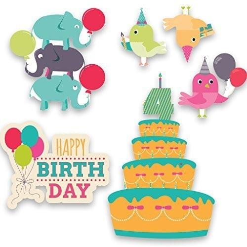 A 2D template for birthday yard decorations