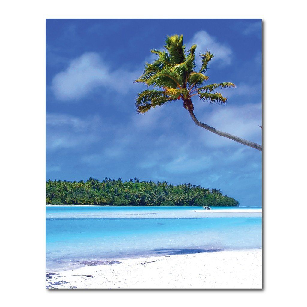 Tropical Beach Vinyl Photography Backdrop - 8'x10' or 8'x14'