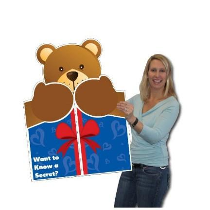 Bear Hug Giant Greeting Card - Stock Design - W/Envelope