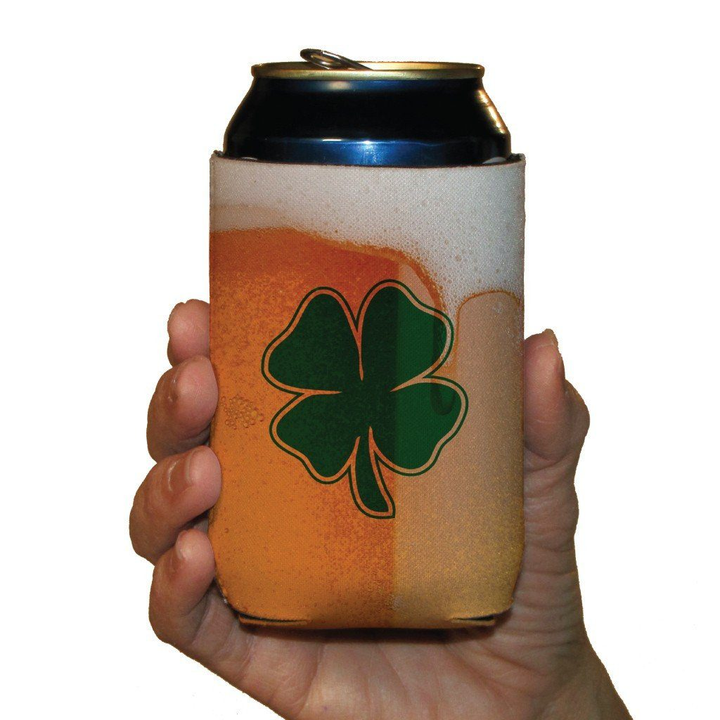 St. Patrick's Day Can Coolers - Set of 12 - Beer of Mug with Clover