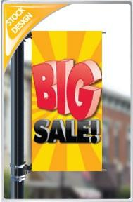"18""x36"" Big Sale Pole Banner FREE SHIPPING"