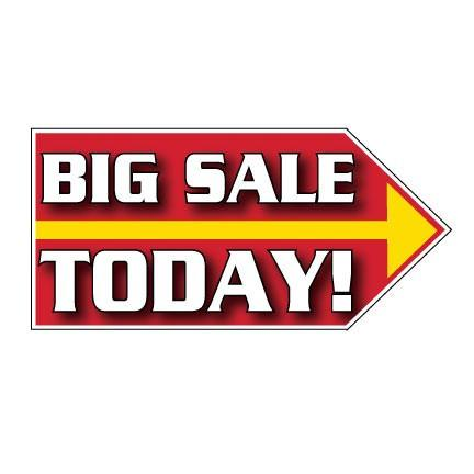 Big Sale Today Spinner Signs