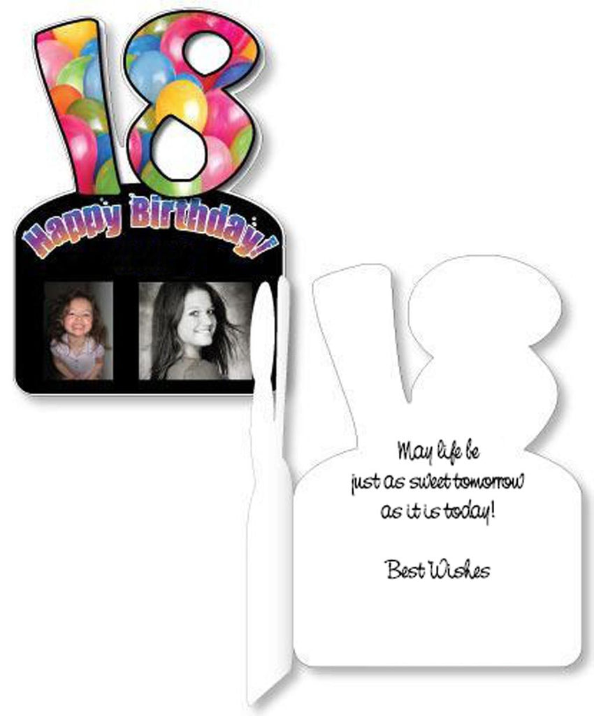 Giant Big 18th Birthday Photo Greeting Card w/Envelope