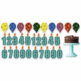 Birthday Boy Pathway Markers - Candle Numbers, Cake, Balloons - 22