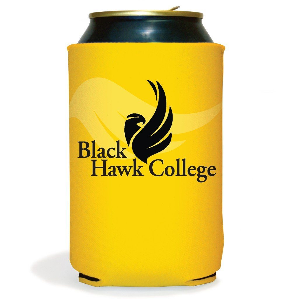 Set of 6 Black Hawk College Koozies