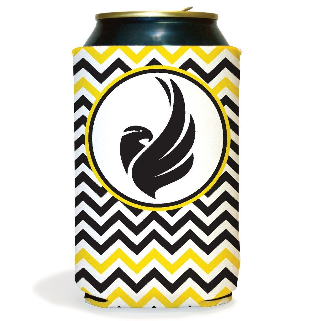 Set of 6 Black Hawk Chevron Koozies
