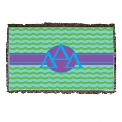 Tri Delta Woven Throw Blanket
