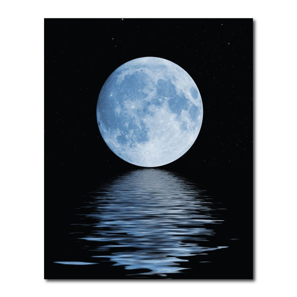 Moon Reflecting on Water Vinyl Photography Backdrop - 8'x10' or 8'x14'