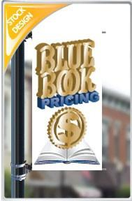 "18""x36"" Bluebook Pricing Pole Banner FREE SHIPPING"