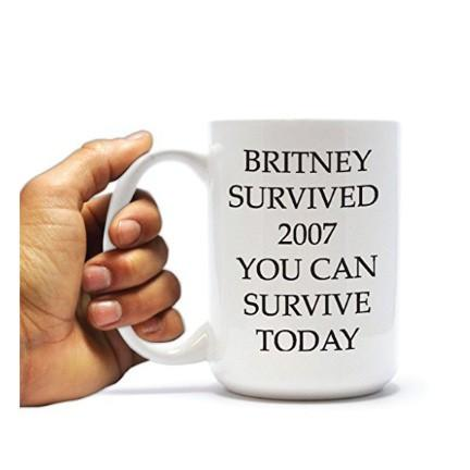 Survive the Day - Britney Spears 2007 - 15oz Coffee Mug