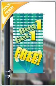 "18""x36"" Buy One Get One Free Pole Banner FREE SHIPPING"