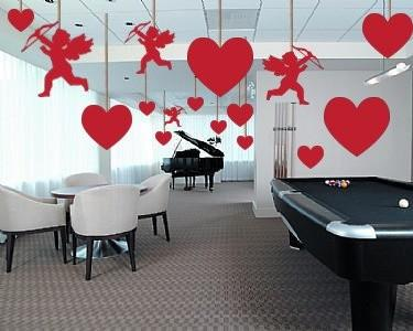 Valentine's Day Party Decorations - 2D Red Corrugated Plastic - Cupids