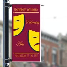 "Custom Campus 30""x60"" Pole Banner FREE SHIPPING"