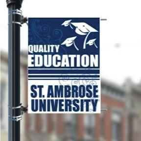 "Custom Campus 36""x48"" Pole Banner FREE SHIPPING"