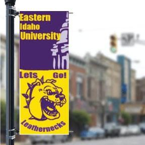 "Custom Campus 36""x90"" Pole Banner FREE SHIPPING"