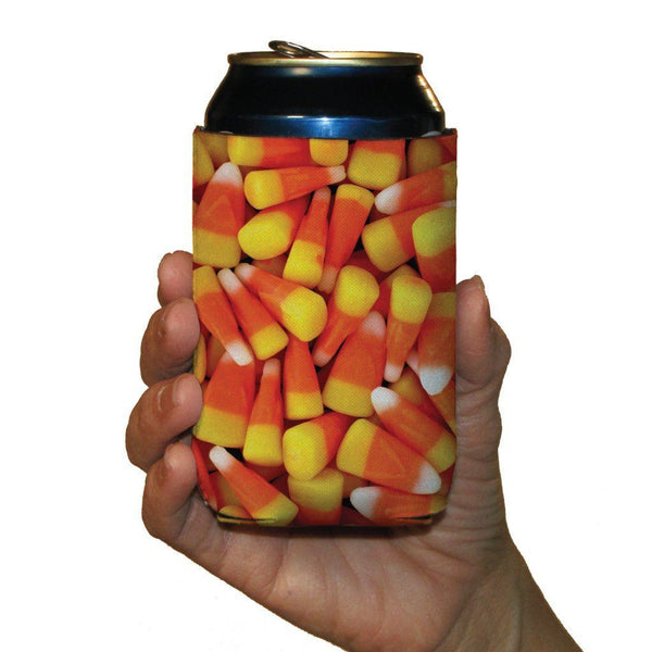 Halloween Candy Corn Can Cooler Set 6