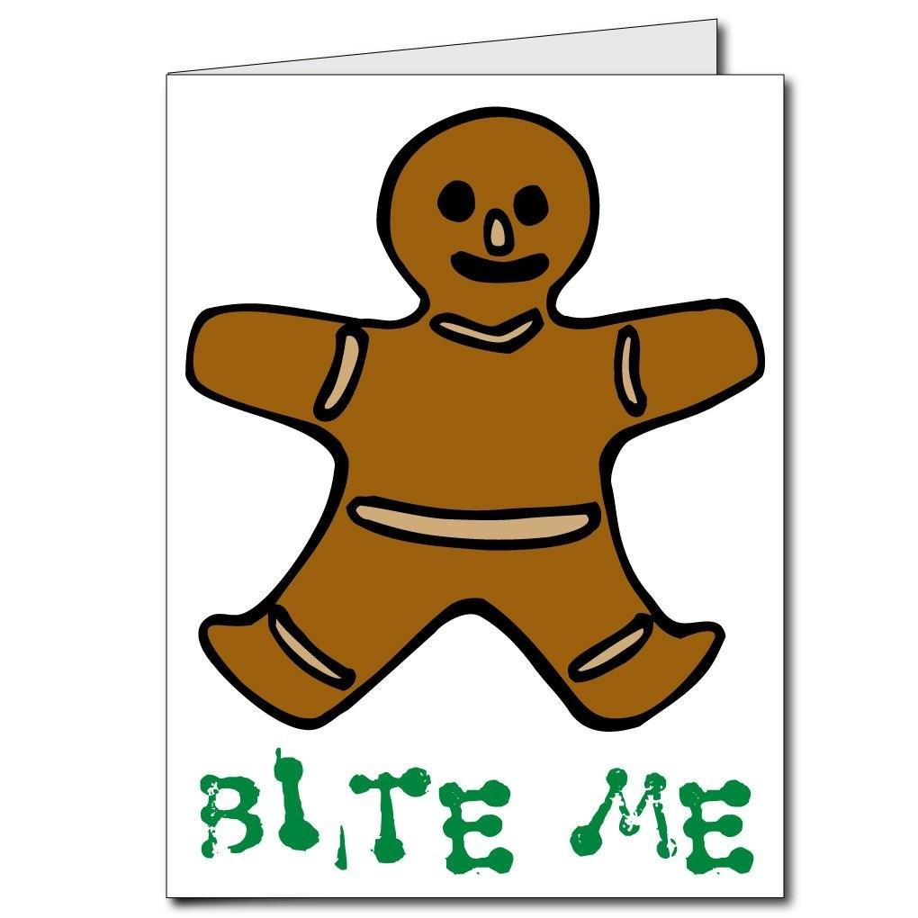 Giant Christmas Card (Gingerbread Man), W/Envelope - Stock Design