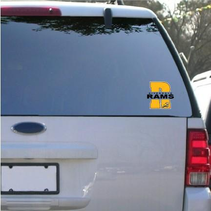 "Riverdale Rams 5"" Shaped Vinyl Decal"
