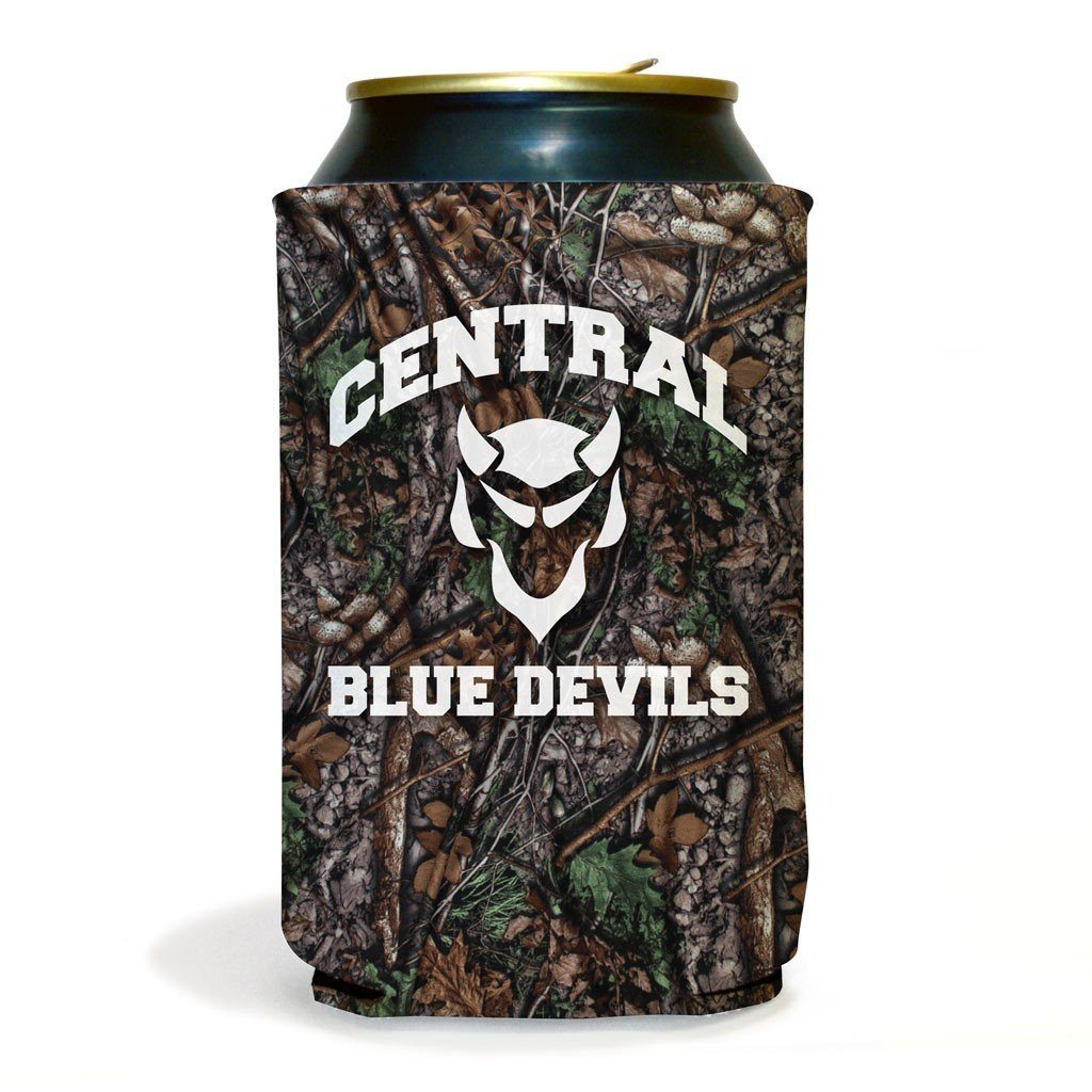 Set of 6 Central Blue Devils Camouflage Koozies