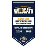 Team Banners - Custom Vertical Championship