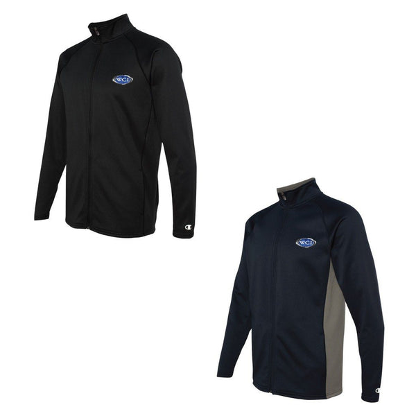 WCI Embroidered Men's Champion Performance Color Block Full-Zip Jacket