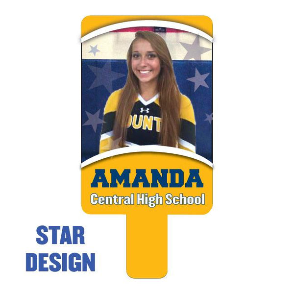 Team Photo Paddle Fan - Star Design