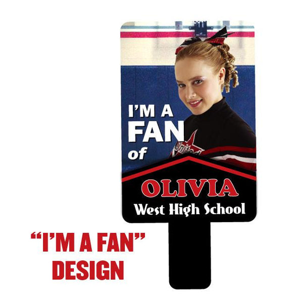 Team Photo Paddle Fan - I'm a fan Design