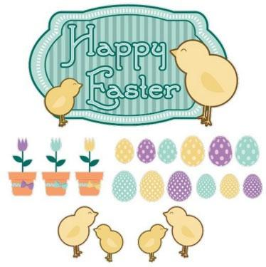 Easter - Yard Decoration - Happy Easter Chicks with Easter Eggs and