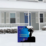 Hark the Herald Angels Sing Christmas Lawn Display - Yard Sign