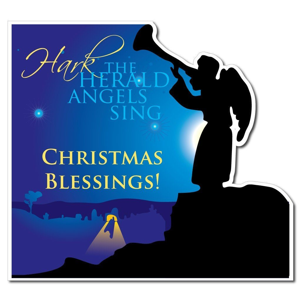 Hark the Herald Angels Sing Christmas Lawn Sign - FREE SHIPPING