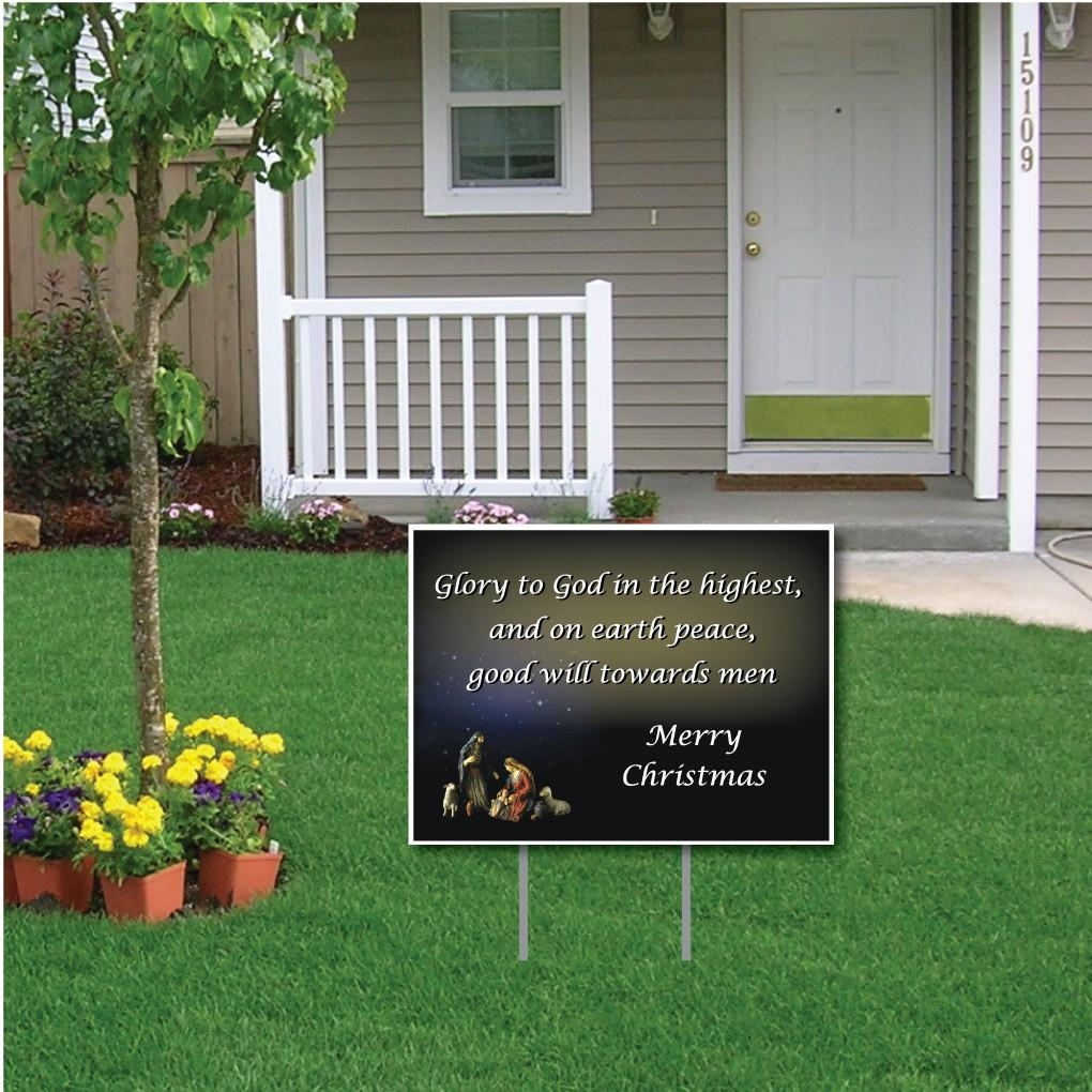 Glory to God in the Highest Christmas Lawn Sign - FREE SHIPPING