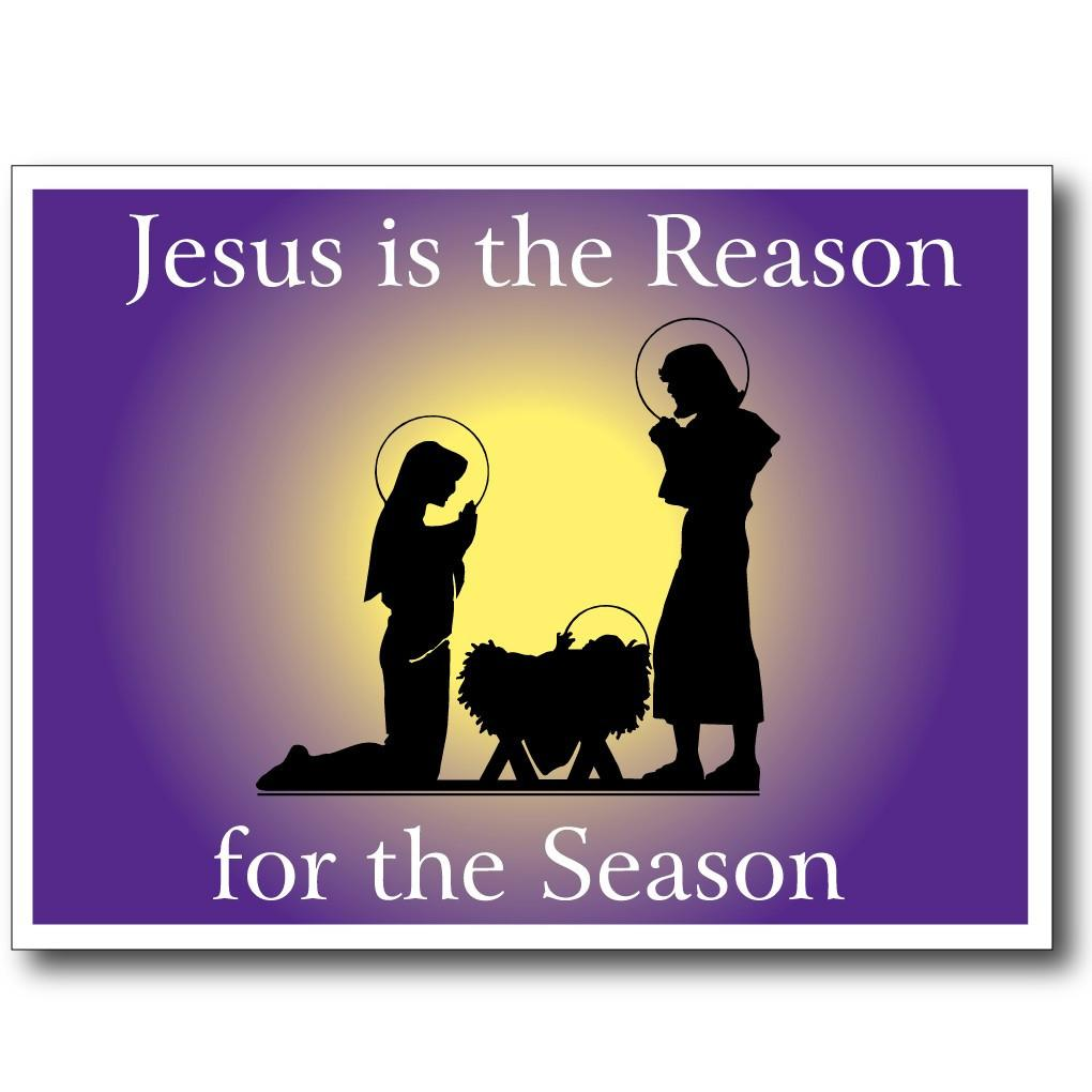 "Jesus Is The Reason 18""x24"" Yard Sign Decoration - FREE SHIPPING"