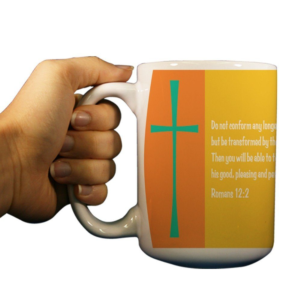 Romans 12:2 Religious 15oz Coffee Mug