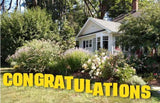 Congratulations yard sign package