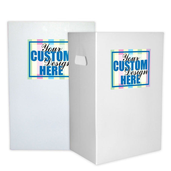 Customized Disposable Recyclable Corrugated Plastic Trash Cans