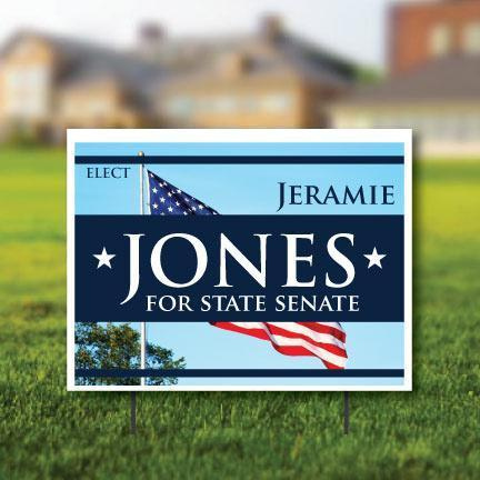 "Yard Sign: 18""x24"" Corrugated Plastic"