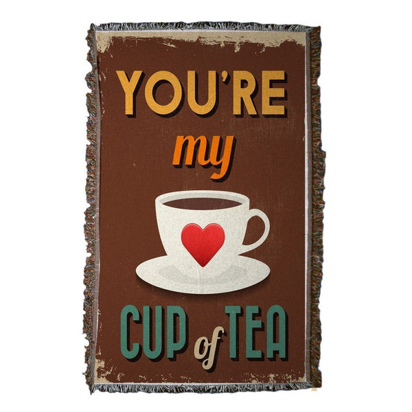 You're My Cup of Tea Woven Throw Blanket