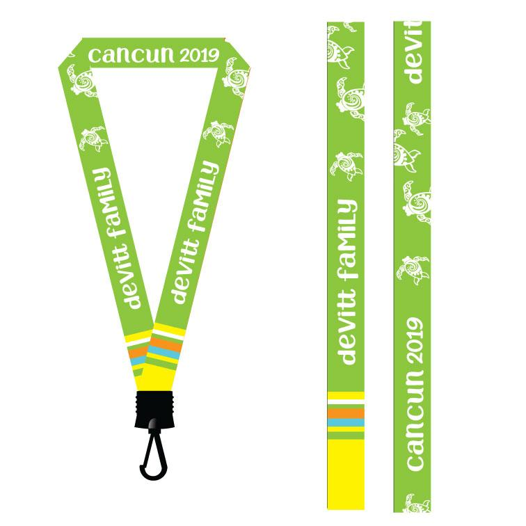Custom Cruise Vacation Lanyards