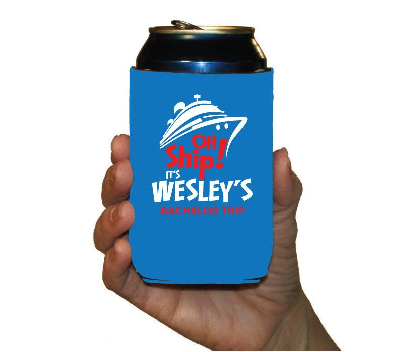 Personalized Cruise Can Koozie - Cooler
