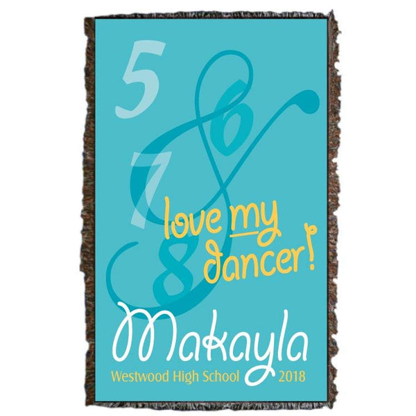 A personalized dancer blanket