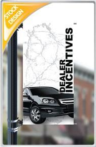 "18""x36"" Dealer Incentives Pole Banner FREE SHIPPING"